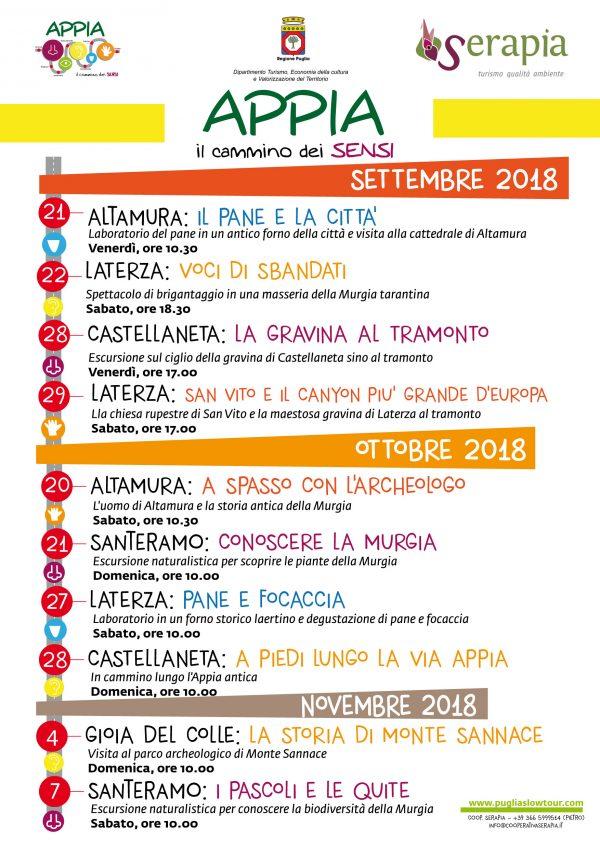 Programma Appia autunno 2018