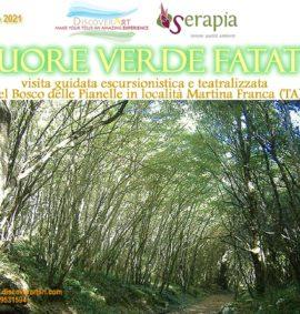 Cuore verde fatato teatro nel bosco